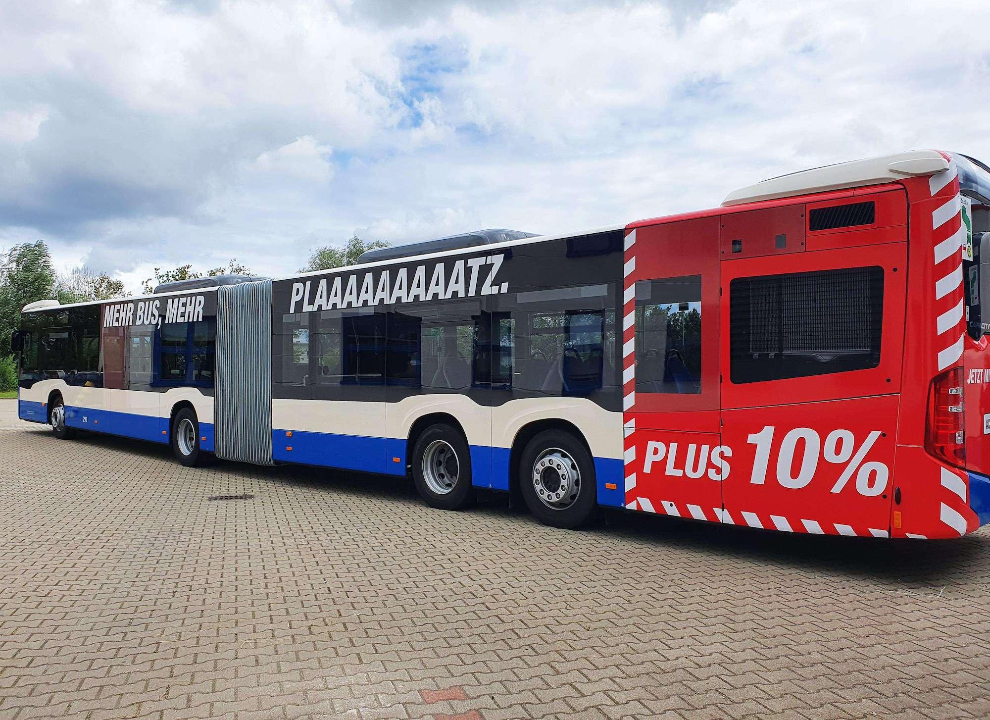 RSAG-Bus mit Überlänge