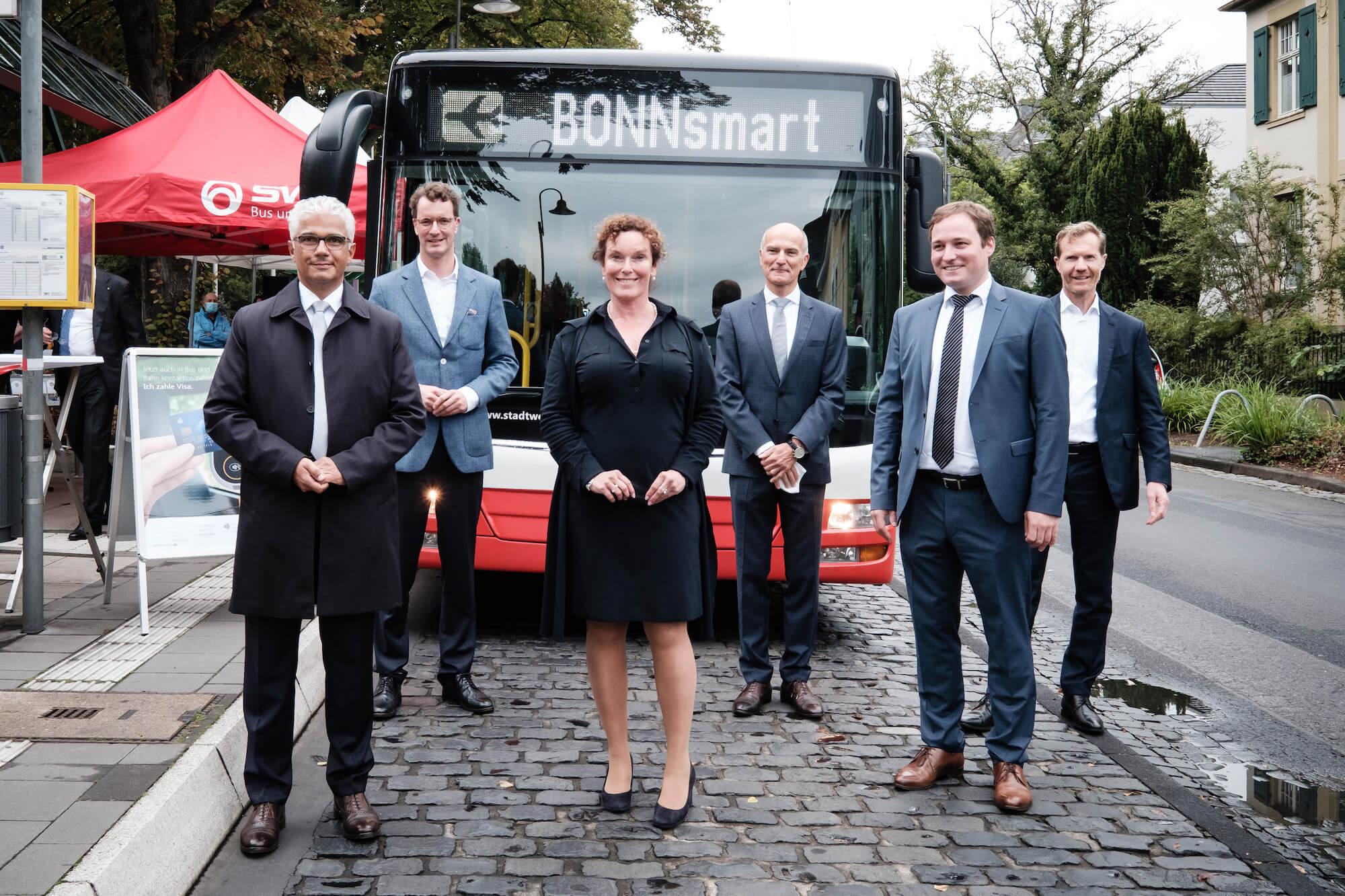 Vorstellung von BONNsmart, der ersten kontaktlosen ÖPNV Ticketing-System in Deutschland