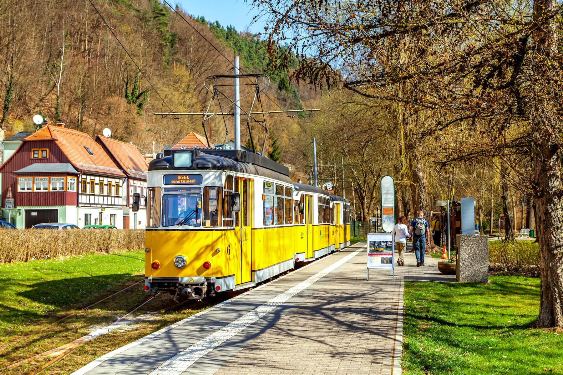 Die Kirnitzschtalbahn in der Sächsischen Schweiz