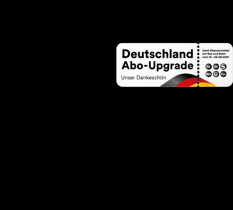 Aktionslogo zum Deutschland Abo-Upgrade