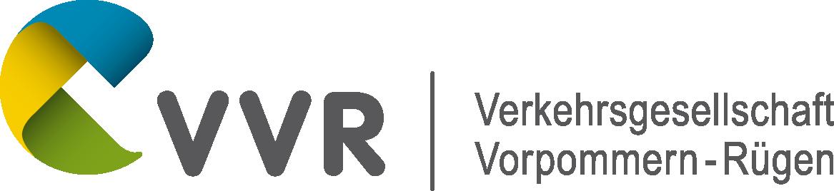 """Logo """"Verkehrsgesellschaft Vorpommern-Rügen mbH (VVR)"""""""