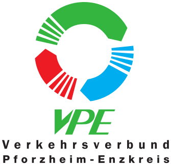 "Logo ""Verkehrsverbund Pforzheim-Enzkreis GmbH (VPE)"""