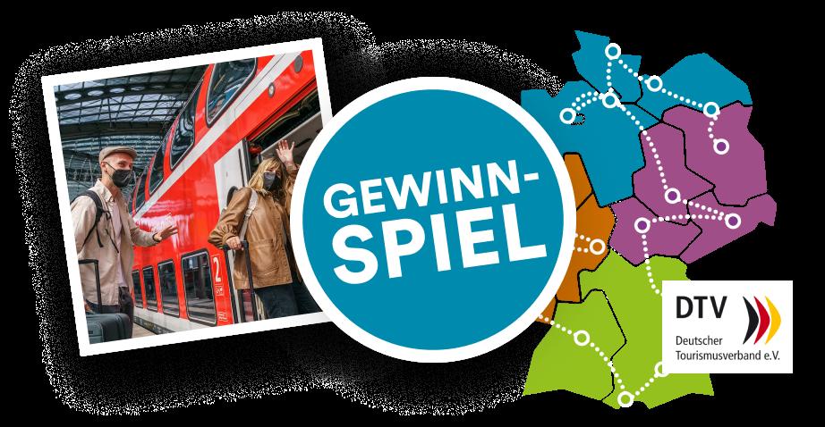 Gewinnspielgraik mit einer Deutschlandkarte