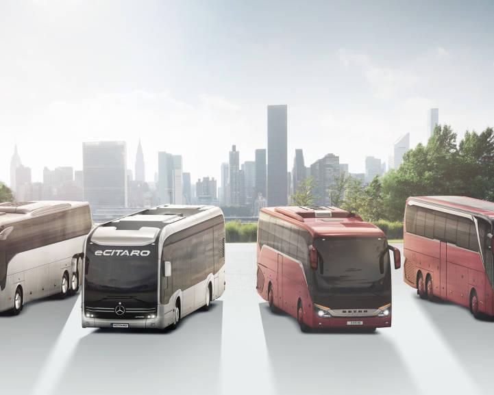 Illustration von Daimler Bussen