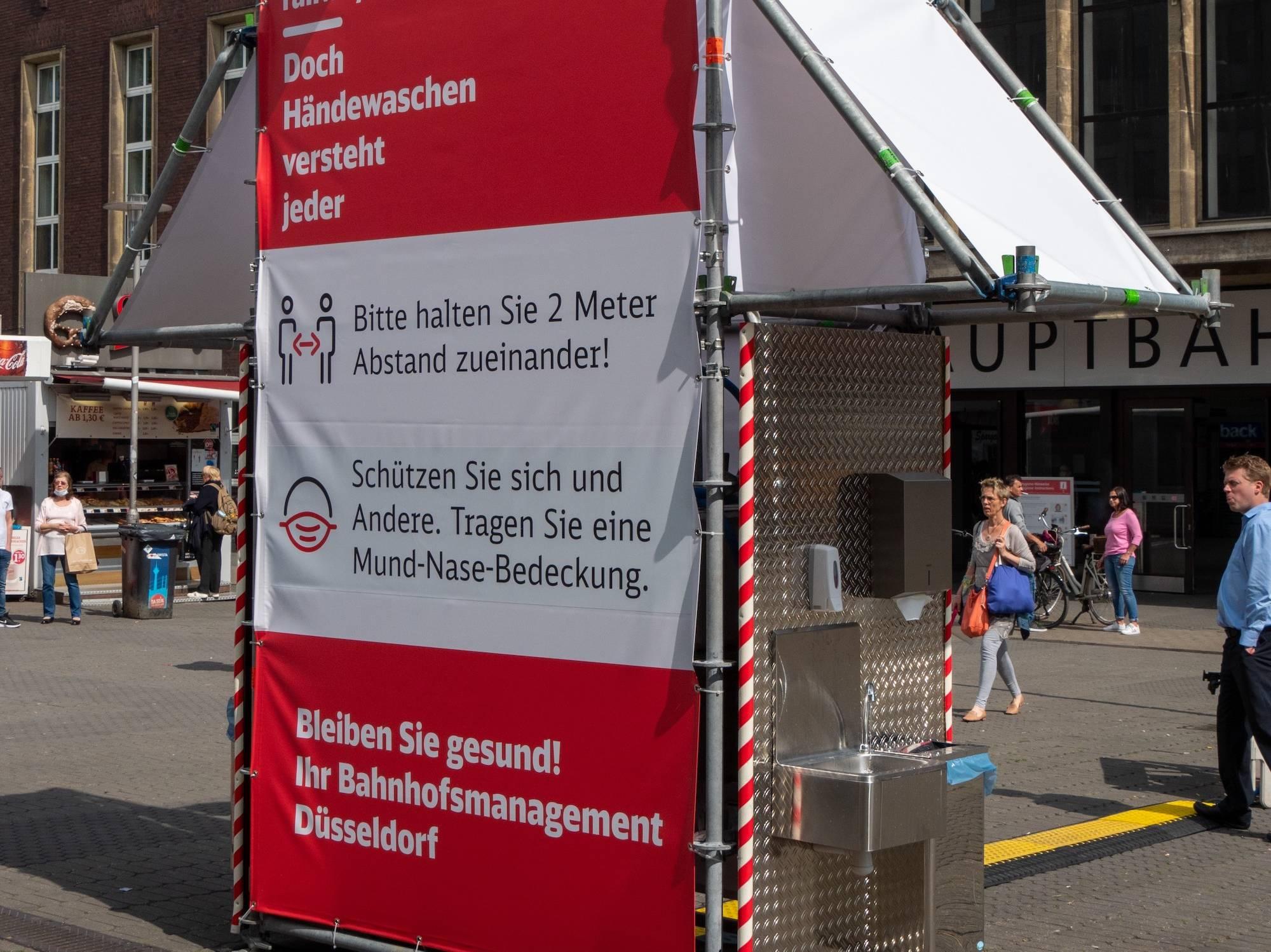 Händewaschen unterwegs – das geht jetzt am Hauptbahnhof, am Heinrich-Heine-Platz und in Bilk.